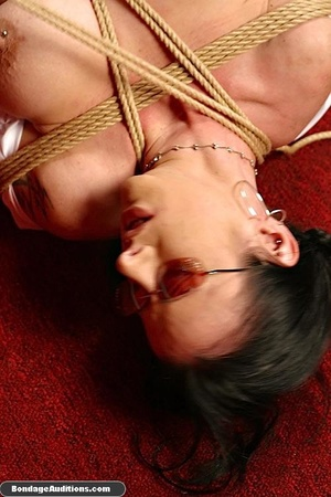 Bitch with glasses gets tied up by her m - XXX Dessert - Picture 16