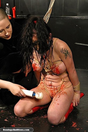 Caged brunette gal likes a rough waxing  - XXX Dessert - Picture 16