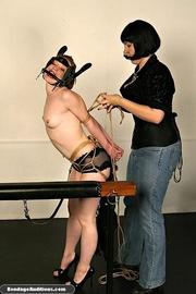 bondage model ready for
