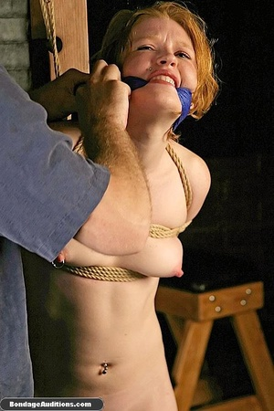 Tied up in ropes and spanked, she loves  - XXX Dessert - Picture 15