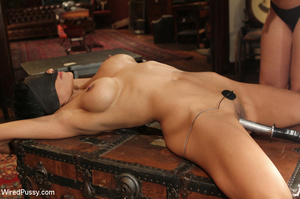 Shaved brunette stuffs her slave with a  - XXX Dessert - Picture 3