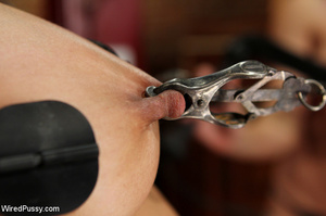 Shaved brunette stuffs her slave with a  - XXX Dessert - Picture 10
