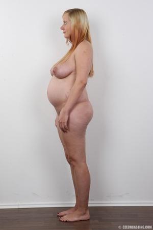 Preggo blonde dame loses pink bra and pa - XXX Dessert - Picture 14