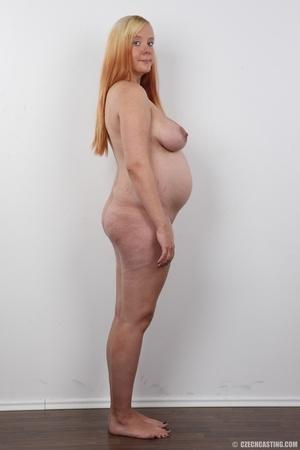 Preggo blonde dame loses pink bra and pa - XXX Dessert - Picture 15