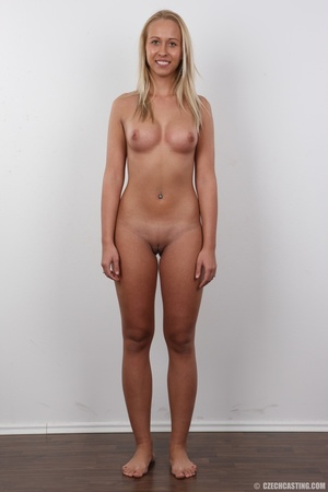 Blonde slut on a stool spreads her legs  - XXX Dessert - Picture 13