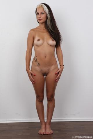 edgy girl hot tan