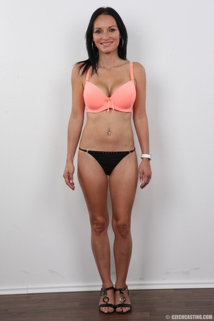 Peach bra and black panties come off bef - XXX Dessert - Picture 6