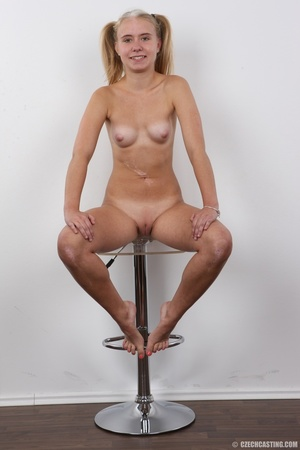 Pretty young thing with pigtails peels o - XXX Dessert - Picture 22