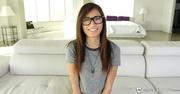 brunette teen glasses gets