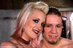 Blonde domina in red leather rides her e - XXX Dessert - Picture 15