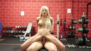 blonde lady wants workout