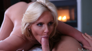 Busty blonde mom gives a footjob and get - XXX Dessert - Picture 2
