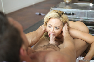 Something is. blonde creampie by asian site, with