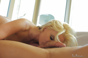 Busty blonde lady sucks a dick and gets  - XXX Dessert - Picture 4