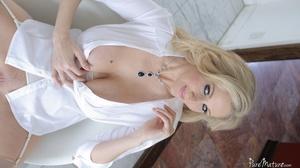 Busty blonde slut in lingerie wants some - XXX Dessert - Picture 4
