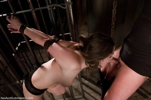 Bound babe experiences electric play and - XXX Dessert - Picture 5