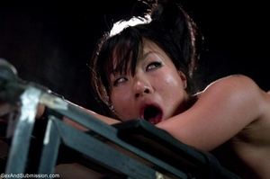 Adorable Asian keeps slits open and read - XXX Dessert - Picture 14