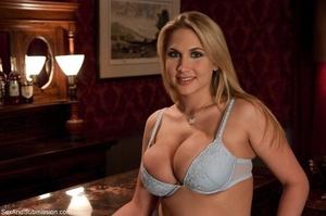 Busty pornstar in sexy corset tied up, g - XXX Dessert - Picture 1