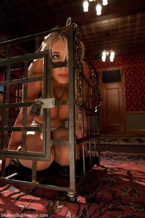 Busty pornstar in sexy corset tied up, g - XXX Dessert - Picture 2