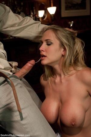 Busty pornstar in sexy corset tied up, g - XXX Dessert - Picture 7