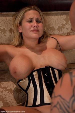 Busty pornstar in sexy corset tied up, g - XXX Dessert - Picture 16