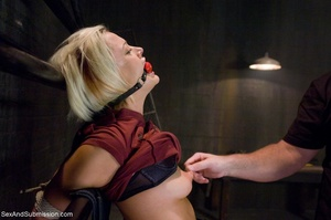 Dominant male uses ropes and black vibra - XXX Dessert - Picture 3