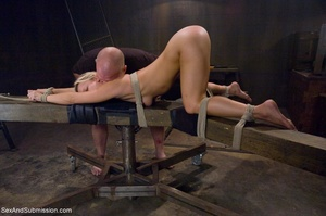 Dominant male uses ropes and black vibra - XXX Dessert - Picture 9