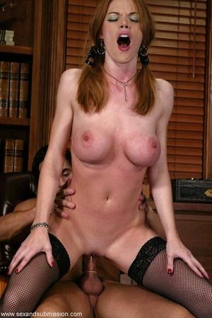 Slender blonde with stockings enjoys in spanking and hard fucking - XXXonXXX - Pic 9