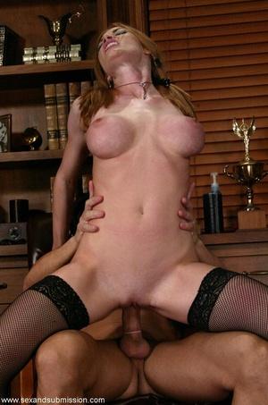 Slender blonde with stockings enjoys in spanking and hard fucking - XXXonXXX - Pic 10