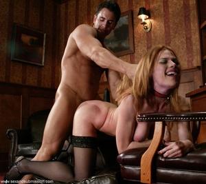 Slender blonde with stockings enjoys in spanking and hard fucking - XXXonXXX - Pic 13