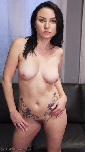 Bald inked hunk fucks a dark haired babe with so much passion - XXXonXXX - Pic 1
