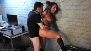 Young brunette slut gets tied up and humiliated by her master - XXXonXXX - Pic 11