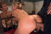slutty blonde milf gets