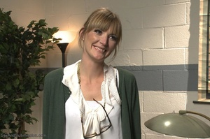 Blonde MILF with glasses gets rammed so rough in the office - XXXonXXX - Pic 1