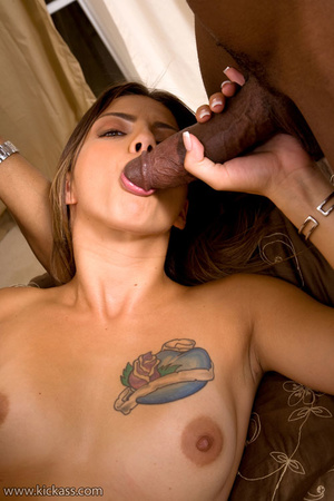 Tattooed slim brunette in sweet pink dri - XXX Dessert - Picture 16