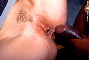 Tasty slim hairy babe in black lacy ling - XXX Dessert - Picture 16