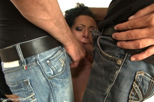 Brunette bitch in a ball gag and rope ge - XXX Dessert - Picture 4