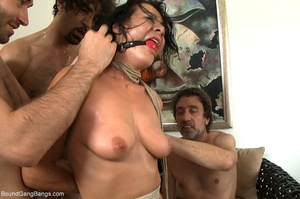 Brunette bitch in a ball gag and rope ge - XXX Dessert - Picture 12