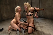ball-gagged babe submits hot