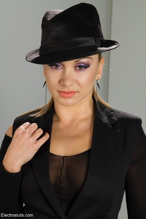 Bossy Domme in a black fedora lays down  - XXX Dessert - Picture 5