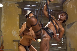 Ebony princess is hoisted in the air and - XXX Dessert - Picture 15