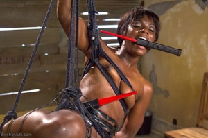 Ebony princess is hoisted in the air and - XXX Dessert - Picture 17