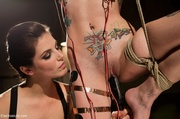 suspended slave with artistic