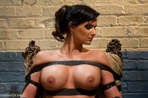 Skank is strapped to a chair, with her f - XXX Dessert - Picture 3