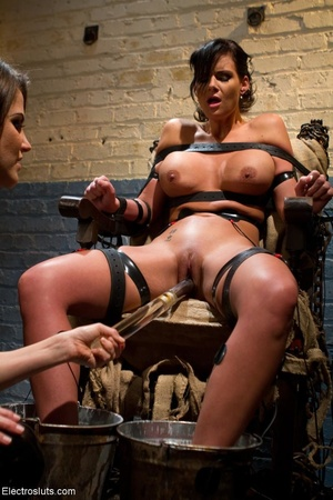 Skank is strapped to a chair, with her f - XXX Dessert - Picture 6