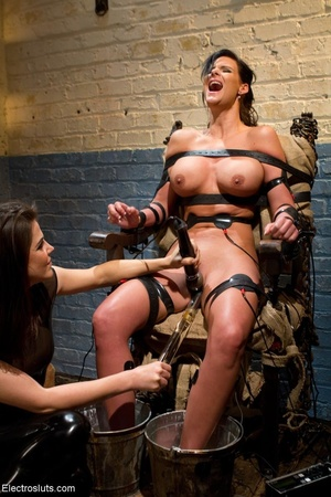 Skank is strapped to a chair, with her f - XXX Dessert - Picture 8