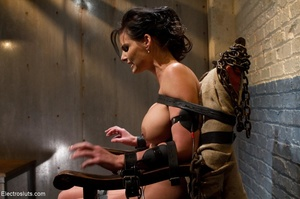 Skank is strapped to a chair, with her f - XXX Dessert - Picture 10