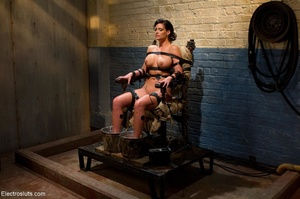 Skank is strapped to a chair, with her f - XXX Dessert - Picture 11