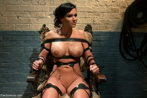 Skank is strapped to a chair, with her f - XXX Dessert - Picture 14