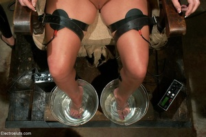 Skank is strapped to a chair, with her f - XXX Dessert - Picture 16